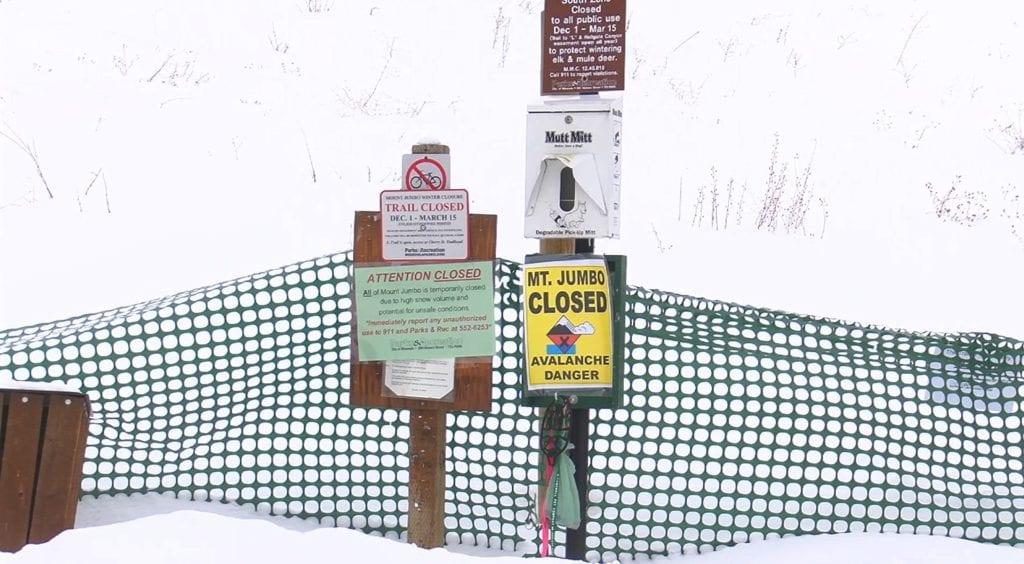 Mount Jumbo Avalanche Warning
