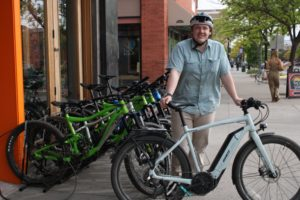 Bike Hanger employee Jay Evans