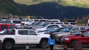 Glacier National Park Logan Pass Parking Lot
