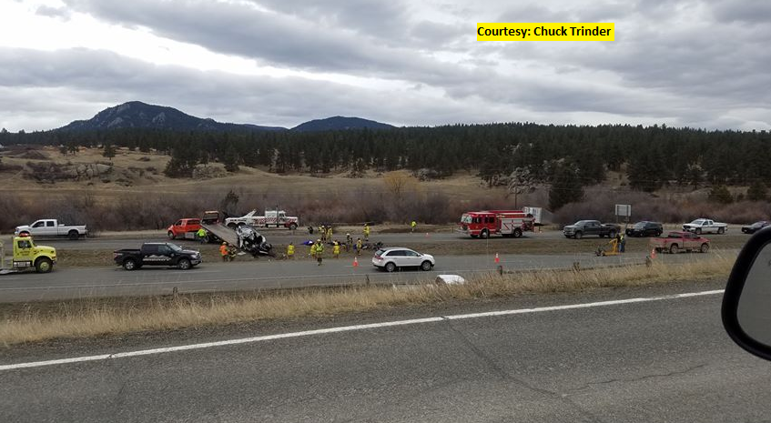 One man in critical condition after semi-SUV crash on I-15
